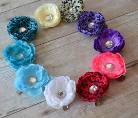10 Flower Clip Set